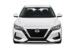 Car photography straight front view of a 2020 Nissan Sentra SV 4 Door Sedan Front View