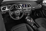 Straight dashboard view of a 2010 - 2011 Audi S5 Cabriolet
