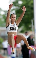 20 MAY 2007 - LOUGHBOROUGH, UK - Jessica Ennis (ENG) - Long Jump - Loughborough International Athletics. (PHOTO (C) NIGEL FARROW)