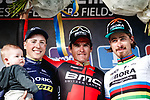 Greg Van Avermaet (BEL) BMC Racing Team wins Gent-Wevelgem in Flanders Fields 2017, with Jens Keukeleire (BEL) Orica-Scott in 2nd place and World Champion Peter Sagan (SVK) Bora-Hansgrohe in 3rd, running 249km from Denieze to Wevelgem, Flanders, Belgium. 26th March 2017.<br /> Picture: Jim Fryer/BrakeThrough Media | Cyclefile<br /> <br /> <br /> All photos usage must carry mandatory copyright credit (&copy; Cyclefile | Eoin Clarke)