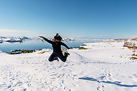 Doing a signature jump in Greenland