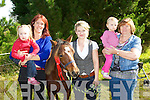 Amber Donovan, Natalie van Hattem Killorglin, Ailís Ní Shúilleabháin Ventry, Jane and Margaret Donovan Killorglin at the Kerry Bog Pony show and sale in Glenbeigh on Saturday.