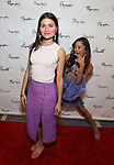 Phillipa Soo and Ashley Park attends the Opening Night Performance of the Playwrights Horizons world premiere production of 'Log Cabin' on June 25, 2018 at Playwrights Horizons in New York City.