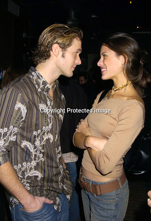 Matt and Natalie Metzger..at the Stockings With Care Benefit for  Toys for Tots at ..Freight in New York City on November 10, 2004 ...Photo by Robin Platzer, Twin Images