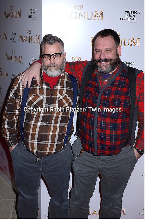 Jeffrey Costello and Robert Tagliapietra attending The premiere of the Magnum Ice Cream Film Series during the Tribeca Film Festival on April 21, 2011 at The IAC Building in New York City.