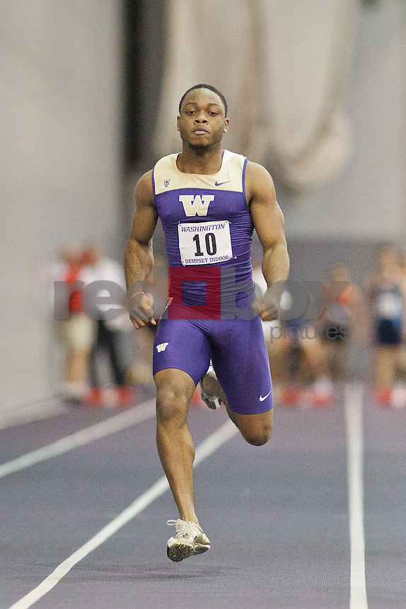 The University of Washington Invitational Track and Field meet at Dempsey Indoor in Seattle, WA Saturday, Jan. 28, 2012. (Photo by Andy Rogers/Red Box Pictures)