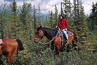 USA, Alaska, Reiter in Chena Hot Springs bei Fairbanks
