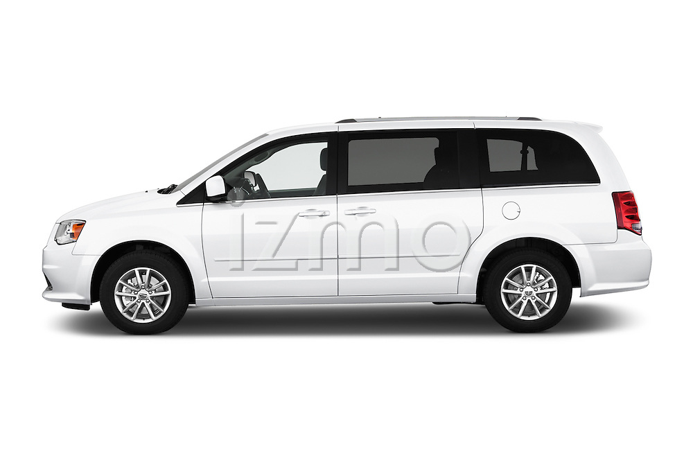 Car Driver side profile view of a 2017 Dodge Grand-Caravan SXT 5 Door Minivan Side View