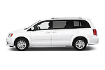 Car Driver side profile view of a 2018 Dodge Grand-Caravan SXT 5 Door Minivan Side View