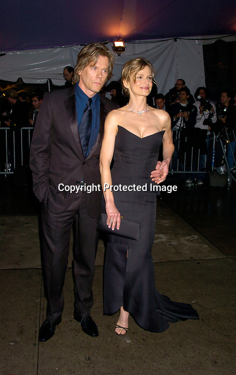 Kevin Bacon and Kyra Sedgwick ..at The Costume Institute Gala of the Metropolitan Museum of Art on april 26, 2004 ...Photo by Robin Platzer, Twin Images