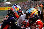 Daniel Ricciardo (AUS)  Red Bull Racing - Fernando Alonso (ESP),  Scuderia Ferrari<br /> for the complete Middle East, Austria & Germany Media usage only<br />  Foto © nph / Mathis