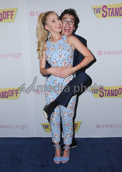"08 September 2016 - Los Angeles, California. Audrey Whitby, Joey Bragg. ""The Standoff"" Los Angeles premiere held at Regal LA Live. Photo Credit: Birdie Thompson/AdMedia"