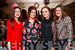 Joanne O'Riordan, Micheala Regan, Joanne Ryan, Gretta Sheahan, Minx Wildpair, Tralee, enjoying their Christmas party at No. 4, The Square, Tralee, on Saturday night last.