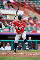 New Hampshire Fisher Cats second baseman Jon Berti (11) at bat during a game against the Erie SeaWolves on June 20, 2018 at UPMC Park in Erie, Pennsylvania.  New Hampshire defeated Erie 10-9.  (Mike Janes/Four Seam Images)