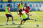 Getafe's Bruno Gonzalez, Francisco Molinero, Markel Bergara and Jorge Molina during training session. September 12,2017.(ALTERPHOTOS/Acero)
