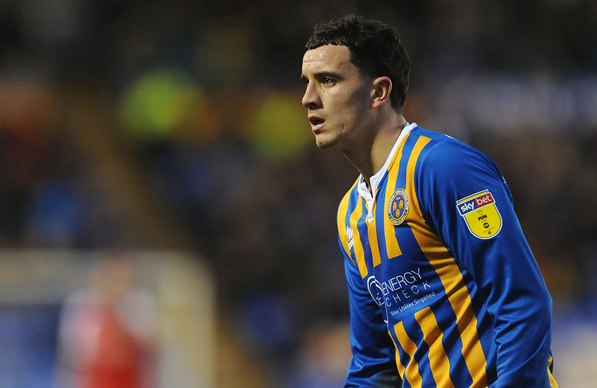 Shrewsbury Town's Oliver Norburn<br /> <br /> Photographer Kevin Barnes/CameraSport<br /> <br /> The EFL Sky Bet League One - Shrewsbury Town v Fleetwood Town - Tuesday 1st January 2019 - New Meadow - Shrewsbury<br /> <br /> World Copyright © 2019 CameraSport. All rights reserved. 43 Linden Ave. Countesthorpe. Leicester. England. LE8 5PG - Tel: +44 (0) 116 277 4147 - admin@camerasport.com - www.camerasport.com