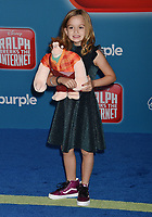 HOLLYWOOD, CA - NOVEMBER 05: Chloe Clem attends the Premiere Of Disney's 'Ralph Breaks The Internet' at the El Capitan Theatre on November 5, 2018 in Los Angeles, California.<br /> CAP/ROT/TM<br /> &copy;TM/ROT/Capital Pictures