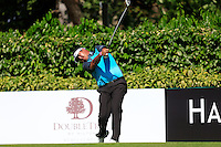Prom Meesawat (THA) on the 5th tee green during Round 3 of the Maybank Malaysian Open at the Kuala Lumpur Golf & Country Club on Saturday 7th February 2015.<br /> Picture:  Thos Caffrey / www.golffile.ie