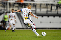 Orlando, FL - Saturday Jan. 21, 2017: São Paulo defender Maicon (27) during the first half of the Florida Cup Championship match between São Paulo and Corinthians at Bright House Networks Stadium.
