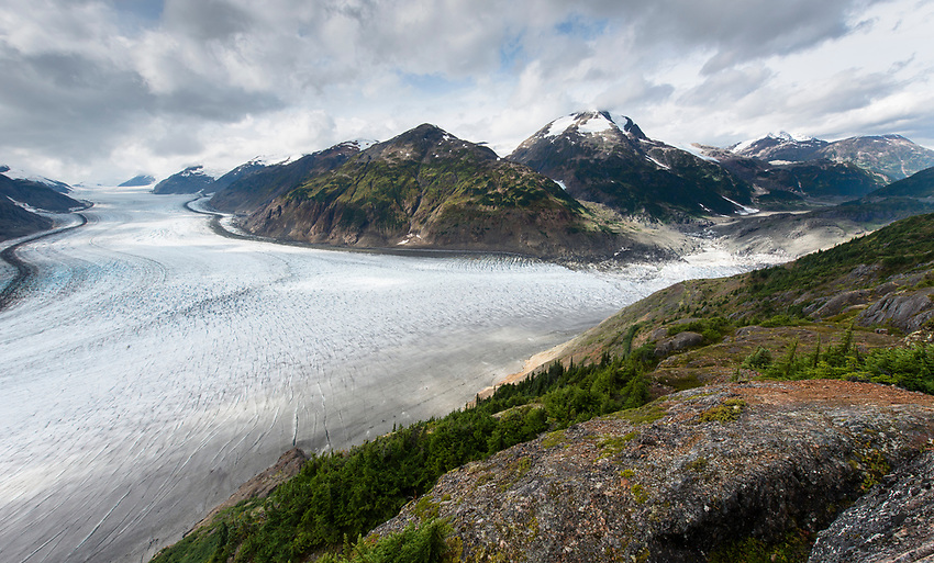 Salmon Glacier. The fifth largest glacier in North America. On the B.C. Alaska border. B.C., 2017.