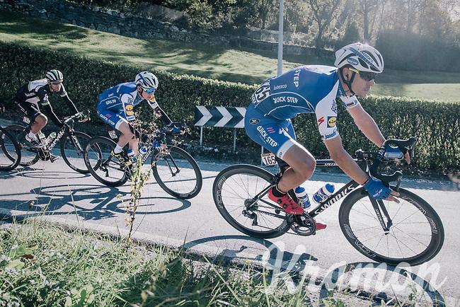 double Lombardia winner Philippe Gilbert (BEL/Quick Step floors) coming down the Colle Gallo (763m)<br /> <br /> Il Lombardia 2017<br /> Bergamo to Como (ITA) 247km