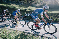 double Lombardia winner Philippe Gilbert (BEL/Quick Step floors) coming down the Colle Gallo (763m)<br /> <br /> Il Lombardia 2017<br /> Bergamo to Como (ITA) 247km