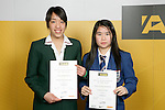 Girls Badminton finalists Jessica Jonggowisastro & Melissa Leviana Kartahardja. ASB College Sport Young Sportperson of the Year Awards 2007 held at Eden Park on November 15th, 2007.