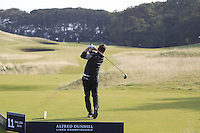 Brian O'Driscoll (AM) on the 11th tee during Round 3 of the 2015 Alfred Dunhill Links Championship at Kingsbarns in Scotland on 3/10/15.<br /> Picture: Thos Caffrey | Golffile