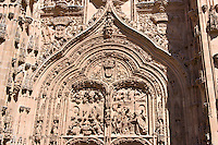 main entrance, Catedral Nuevo, plateresque, Salamanca, Spain