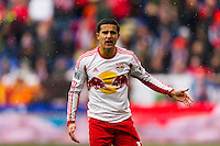 Tim Cahill (17) of the New York Red Bulls. The New York Red Bulls and D. C. United played to a 0-0 tie during a Major League Soccer (MLS) match at Red Bull Arena in Harrison, NJ, on March 16, 2013.