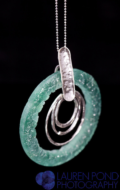 Necklace Roman Glass circle