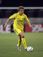 7 May 2005. Columbus Crew midfielder Danny Szetela (17) takes the ball upfield at RFK Stadium in Washington, DC.