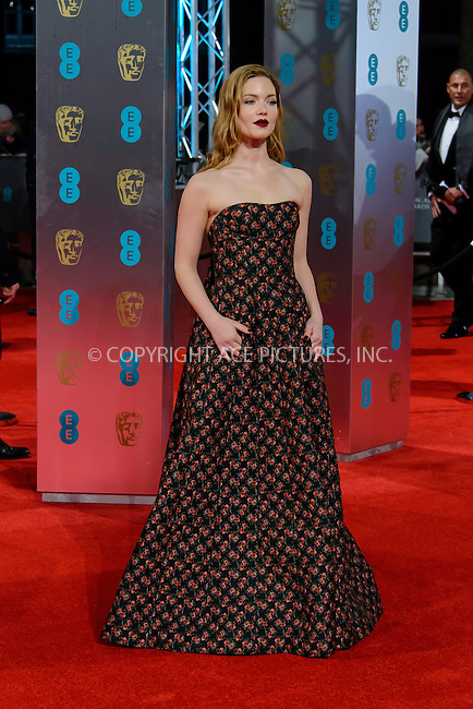 www.acepixs.com<br /> <br /> February 12 2017, London<br /> <br /> Holliday Grainger arriving at the 70th EE British Academy Film Awards (BAFTA) at the Royal Albert Hall on February 12, 2017 in London, England<br /> <br /> By Line: Famous/ACE Pictures<br /> <br /> <br /> ACE Pictures Inc<br /> Tel: 6467670430<br /> Email: info@acepixs.com<br /> www.acepixs.com