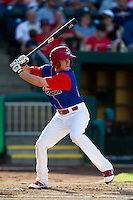 Ryan Jackson (23) of the Springfield Cardinals at bat during a game against the Corpus Christi Hooks at Hammons Field on August 13, 2011 in Springfield, Missouri. Springfield defeated Corpus Christi 8-7. (David Welker / Four Seam Images)