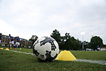 ELON, NC - SEPTEMBER 02: An Adidas Nativo soccer ball. The Elon University Phoenix hosted the Presbyterian College Blue Hose on September 2, 2017 at Rudd Field in Elon, NC in a Division I college soccer game. Elon won the game 2-0.