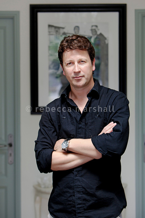 Craig Logan, CEO of Logan Media Entertainment (LME), poses for the photographer at his home near Nice, France, 29th June 2011.<br />