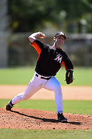 Miami Marlins pitcher Tyler Kane (60) during a minor league spring training game against the New York Mets on March 30, 2015 at the Roger Dean Complex in Jupiter, Florida.  (Mike Janes/Four Seam Images)