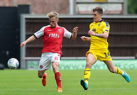 Fleetwood Town's Kyle Dempsey is chased down by Oxford United's Josh Ruffels<br /> <br /> Photographer David Shipman/CameraSport<br /> <br /> The EFL Sky Bet League One - Oxford United v Fleetwood Town - Saturday August 11th 2018 - Kassam Stadium - Oxford<br /> <br /> World Copyright &copy; 2018 CameraSport. All rights reserved. 43 Linden Ave. Countesthorpe. Leicester. England. LE8 5PG - Tel: +44 (0) 116 277 4147 - admin@camerasport.com - www.camerasport.com