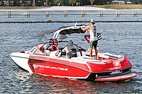 ORLANDO, FL - April 29:  Preparing the boat for competition. Scenes from  WWA Nautique Wake Series Open 2017 at  the Orlando Watersports Complex on April 29, 2017 in Orlando, Florida. (Photo by Liz Lamont/Eclipse Sportswire/Getty Images)