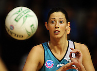 Thunderbirds' Jane Altschwager during the ANZ Netball Championship match between the Waikato Bay of Plenty Magic and Adelaide Thunderbirds, Mystery Creek Events Centre, Hamilton, New Zealand on Sunday 19 July 2009. Photo: Dave Lintott / lintottphoto.co.nz