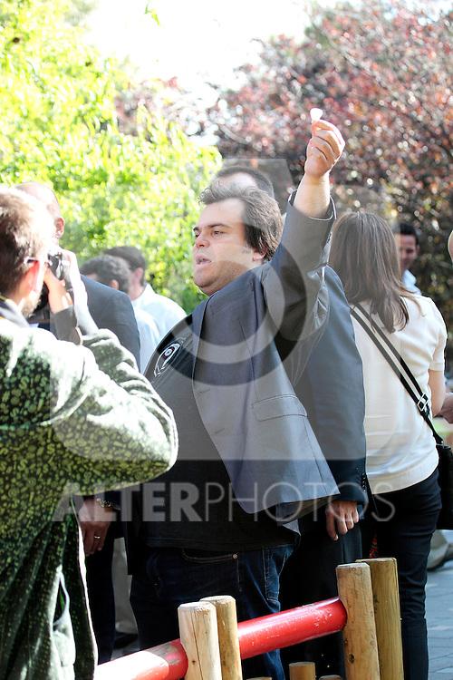 100611.MC. Photocall KUNG FU PANDA 2...MADRID..Jack Black, Jeffrey Katzenberg, Florentino Fernandez