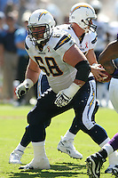 09/11/11 San Diego, CA: San Diego Chargers guard Kris Dielman #68 during an NFL game played at Qualcomm Stadium between the San Diego Chargers and the Minnesota Vikings. The Chargers defeated the Vikings 24-17.