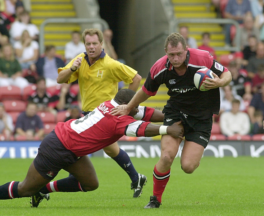Photo:Ken Brown.20.8.2000 Saracens v Gloucester.Richard Hill