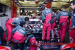 Lucas Di Grassi (BRA) / Loic Duval (FRA) / Oliver Jarvis (GBR) driving the LMP1 Audi Sport Team Joest Audi R18 Hybrid Mechanics 24hr Le Mans 18th June 2016