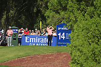Joachim B Hansen (DEN) on the 14th tee during the final round of the DP World Tour Championship, Jumeirah Golf Estates, Dubai, United Arab Emirates. 24/11/2019<br /> Picture: Golffile | Fran Caffrey<br /> <br /> <br /> All photo usage must carry mandatory copyright credit (© Golffile | Fran Caffrey)