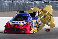 Apr. 5, 2009; Las Vegas, NV, USA: NHRA funny car driver Ron Capps after winning the Summitracing.com Nationals at The Strip in Las Vegas. Mandatory Credit: Mark J. Rebilas-