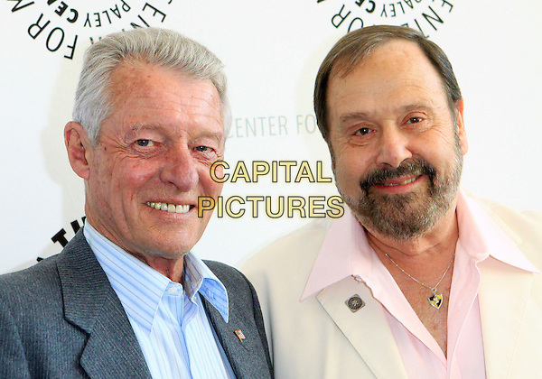 "KEN OSMOND & FRANK BANK .PaleyFest: Rewind 2010 Presents ""Leave It To Beaver"",  Beverly Hills, California, USA, 21st June 2010..portrait headshot  pink shirt cream beard facial hair grey gray blue .CAP/ADM/TC.©T. Conrad/AdMedia/Capital Pictures."