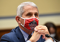 Dr. Anthony Fauci, director of the National Institute for Allergy and Infectious Diseases, testifies before a House Subcommittee on the Coronavirus Crisis hearing on a national plan to contain the COVID-19 pandemic, on Capitol Hill in Washington, DC on Friday, July 31, 2020. <br /> Credit: Kevin Dietsch / Pool via CNP /MediaPunch