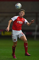 Fleetwood Town's Harvey Saunders<br /> <br /> Photographer Dave Howarth/CameraSport<br /> <br /> Leasing.com Trophy Northern Section Round Three - Fleetwood Town v Accrington Stanley - Tuesday 7th January 2020 - Highbury Stadium - Fleetwood<br />  <br /> World Copyright © 2018 CameraSport. All rights reserved. 43 Linden Ave. Countesthorpe. Leicester. England. LE8 5PG - Tel: +44 (0) 116 277 4147 - admin@camerasport.com - www.camerasport.com