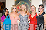 Shoba Shaw (Calcutta), Karen Koster (TV3), Sinead Harrington (HOPE foudation), Tracy Lyons and Melanie Dowling (both Kenmare) at the HOPE Ball in the Brehon Hotel Killarney on Saturday night   Copyright Kerry's Eye 2008